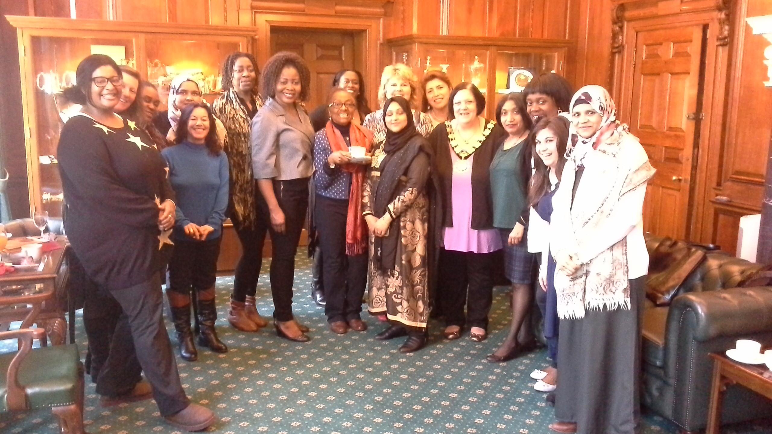HSC volunteers with Mayor of Camden